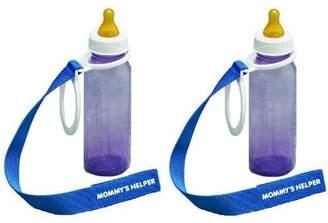 Mommys Helper Bottle Keeper, White/Blue, 2-Pack by Mommy's Helper