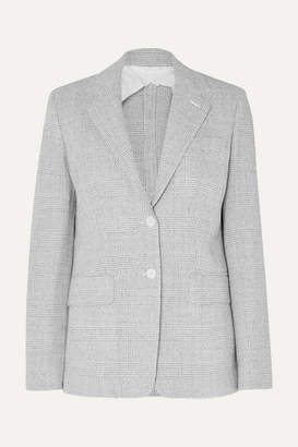 Max Mara Prince Of Wales Checked Wool Blazer - Gray