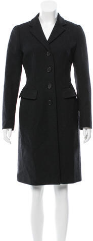 prada Prada Wool Two-Pocket Coat