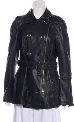 Burberry Leather Short Coat