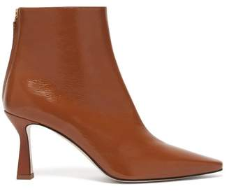 Wandler Lina Point Toe Leather Ankle Boots - Womens - Tan