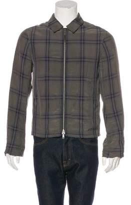 Haider Ackermann Check Front-Zip Jacket