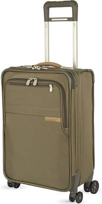 Briggs & Riley Domestic carry-on four-wheel spinner suitcase 56cm, Olive