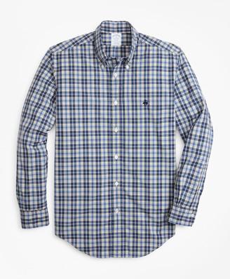 Brooks Brothers Regent Fit Graph Plaid Zephyr Sport Shirt