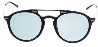 Dries Van Noten Linda Farrow x Tinted Round Sunglasses