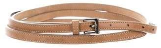 Jimmy Choo Skinny Leather Belt