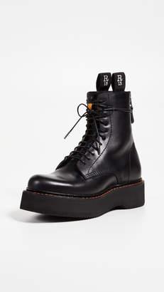R 13 Platform Combat Boots