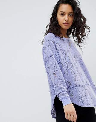 Free People Not Cold In This Lace Top