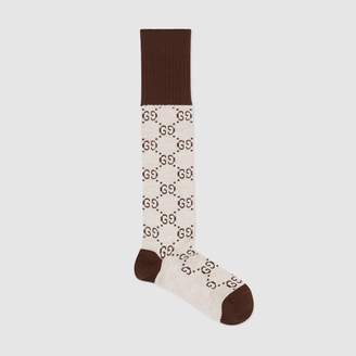 Gucci GG pattern cashmere silk blend socks