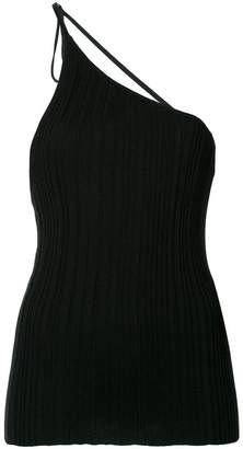 Jacquemus one-shoulder pleated top