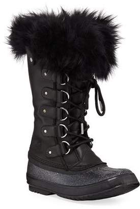 Sorel Joan of Arctic Lux Waterproof Cold-Weather Glitter Boot with Fur