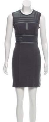 Kimberly Ovitz Mesh-Accented Bodycon Dress