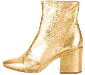 Dries Van Noten Metallic Ankle Boots w/ Tags