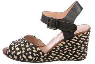 Robert Clergerie Straw Wedge Sandals