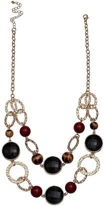 MIXIT Mixit Double Link Chain Womens Beaded Necklace