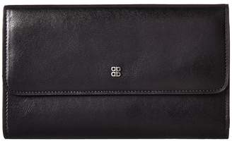 Bosca Old Leather Checkbook Clutch Clutch Handbags