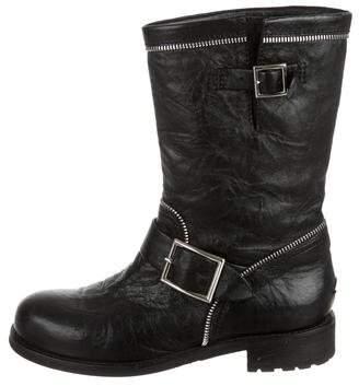 Jimmy Choo Zip Moto Ankle Boots