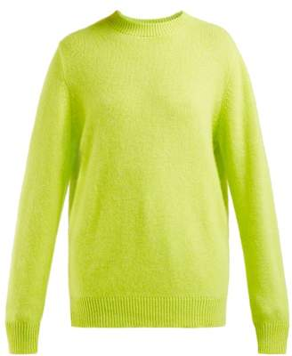 The Elder Statesman Round Neck Cashmere Sweater - Womens - Yellow