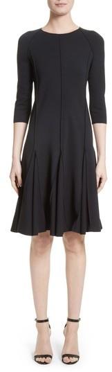 Armani Collezioni Seamed Jersey Fit & Flare Dress