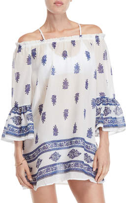 Jaipur Beach Lunch Lounge Printed Off-the-Shoulder Cover-Up Dress