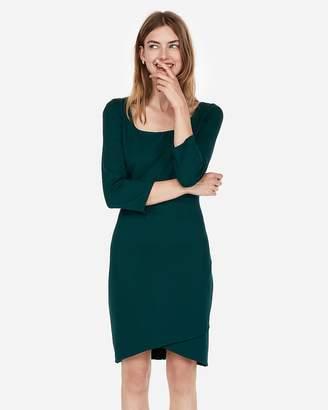 Express Jacquard Square Neck Sheath Dress