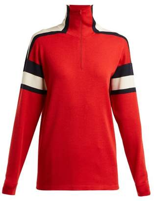 Gucci Striped Wool And Silk Blend Sweater - Womens - Red White