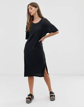 Noisy May oversized t-shirt dress in black