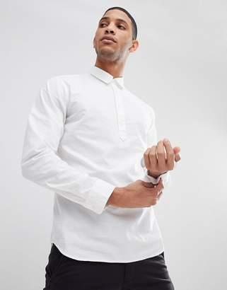 Selected Half Placket Regular Fit Linen Shirt
