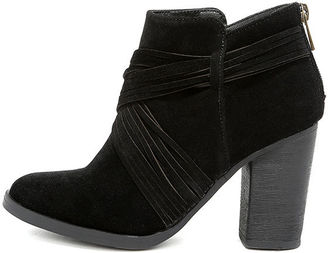 Olena Black Suede Ankle Booties $39 thestylecure.com