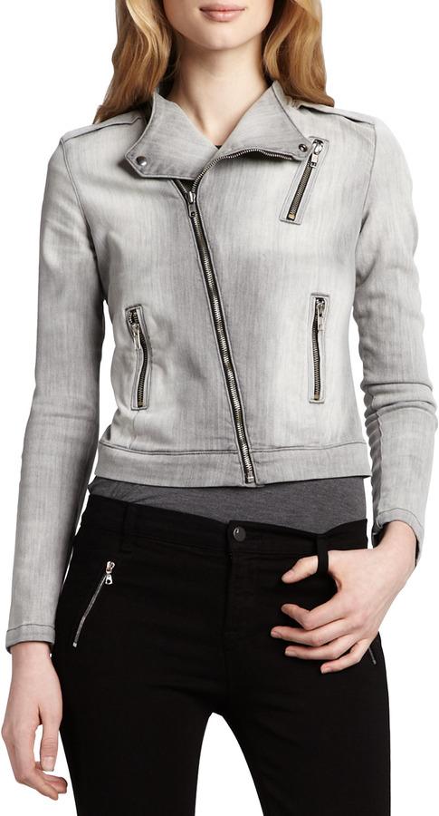 J Brand Jeans Denim Motorcycle Jacket