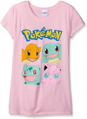 Pokemon Big Girls Character Group Short Sleeve Tee