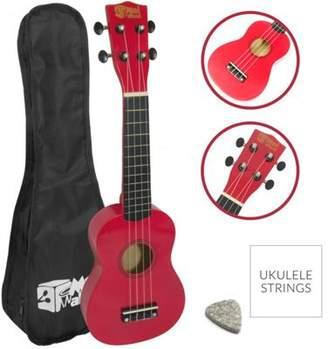 Soprano Mad About Ukulele In Red With Uke Bag Full size