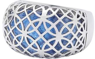 Leonardo Jewels Women ring Arioso stainless steel glass blue size 57 (18.1) - 016239