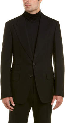 Tom Ford 2Pc Wool & Alpaca-Blend Suit With Pleated Pant