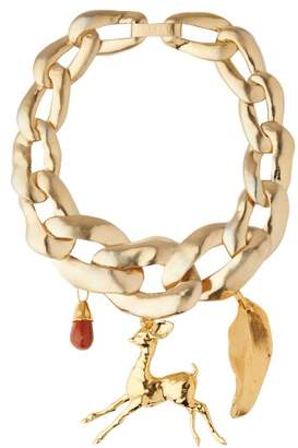 Marni Chunky Chain Link Necklace - Womens - Gold