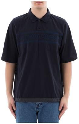 Sacai Blue Cotton Polo