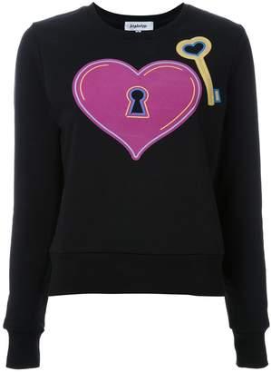 Yazbukey heart and key print sweatshirt