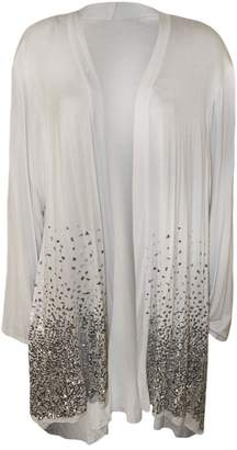 RIDDLED WITH STYLE New Plus Size Ladies Sequin Open Cardigan Long Sleeve Womens Sparkle Top 14-28