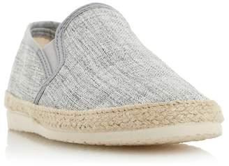 Dune Grey 'Flipper' Canvas Espadrille Shoes