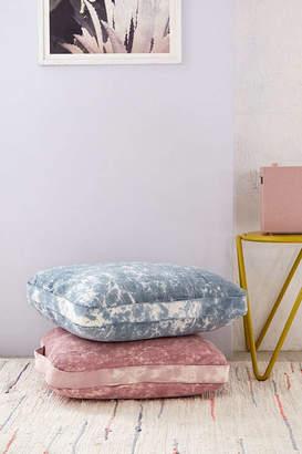 Carrie Bleach-Dyed Floor Pillow