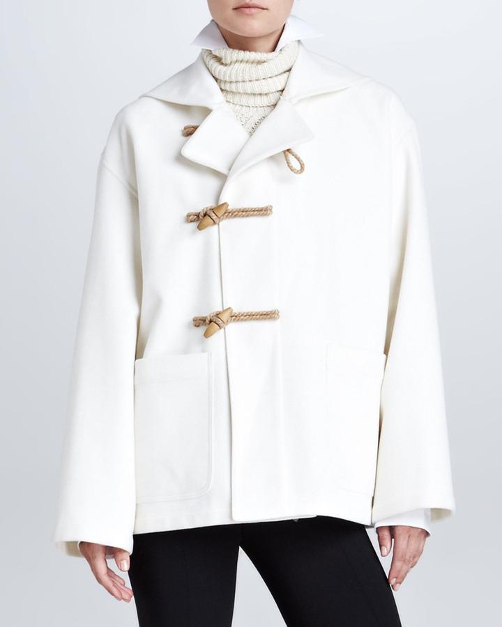 Ralph Lauren Short Duffle Coat, Cream