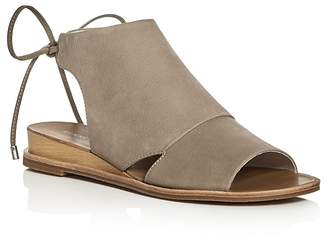 Kenneth Cole Jayda Back Tie Demi Wedge Sandals $120 thestylecure.com