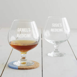 Becky Broome Personalised 'Medicine' Brandy Glass