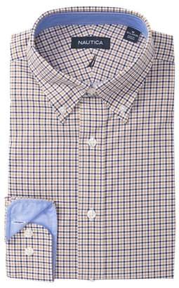 Nautica Small Tattersall Classic Fit Dress Shirt