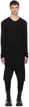 Julius Black Rib Knit T-Shirt