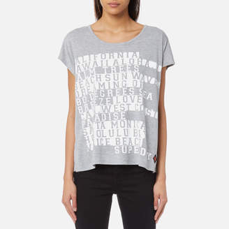 Superdry Women's Boxy Text T-Shirt