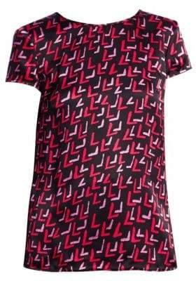 Emporio Armani Abstract Printed Silk Blouse