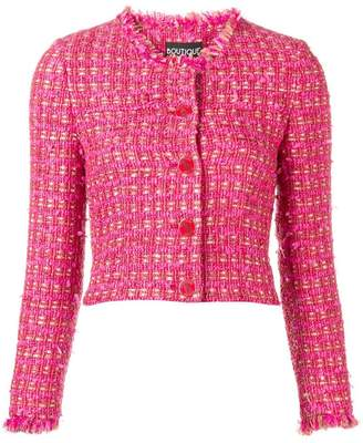 Moschino cropped tweed jacket