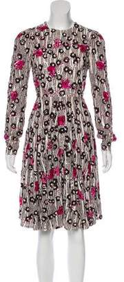 Valentino Sequined Knee-Length Dress w/ Tags