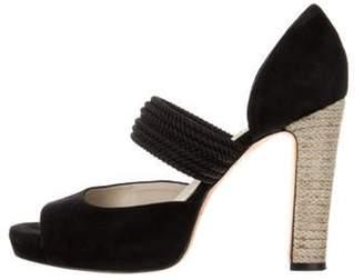 Max Mara Platform Braided Sandals Black Platform Braided Sandals